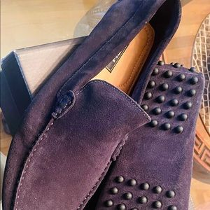 New Gordon Rush Men's Navy Suede Driving Shoes